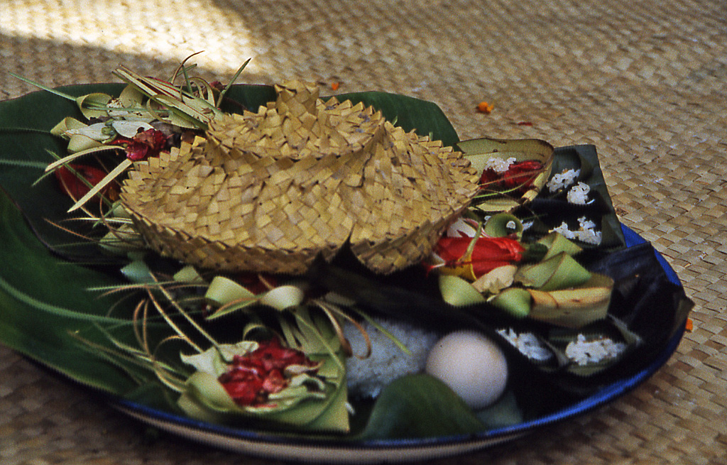 Bicycling Bali-Offerings to the gods Bali, Indonesia