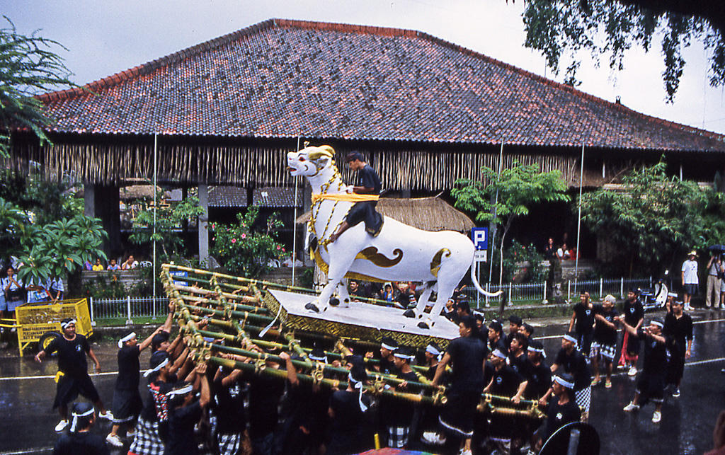 Bicycling Bali-Funeral Procession Bali, Indonesia
