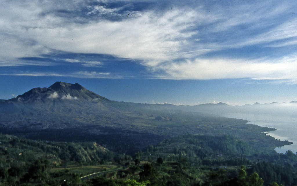 Bicycling Bali-into crater of Batur Volcano