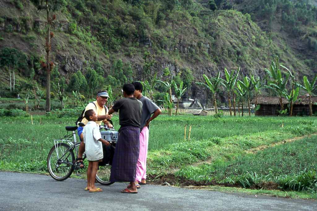 Bicycling Bali-One of the pleasures of bicycling Bali is meeting the locals