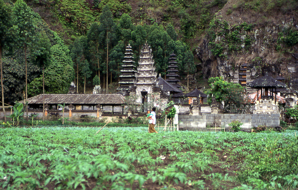 Bicycling Bali-There are many temples in Bali, Indonesia
