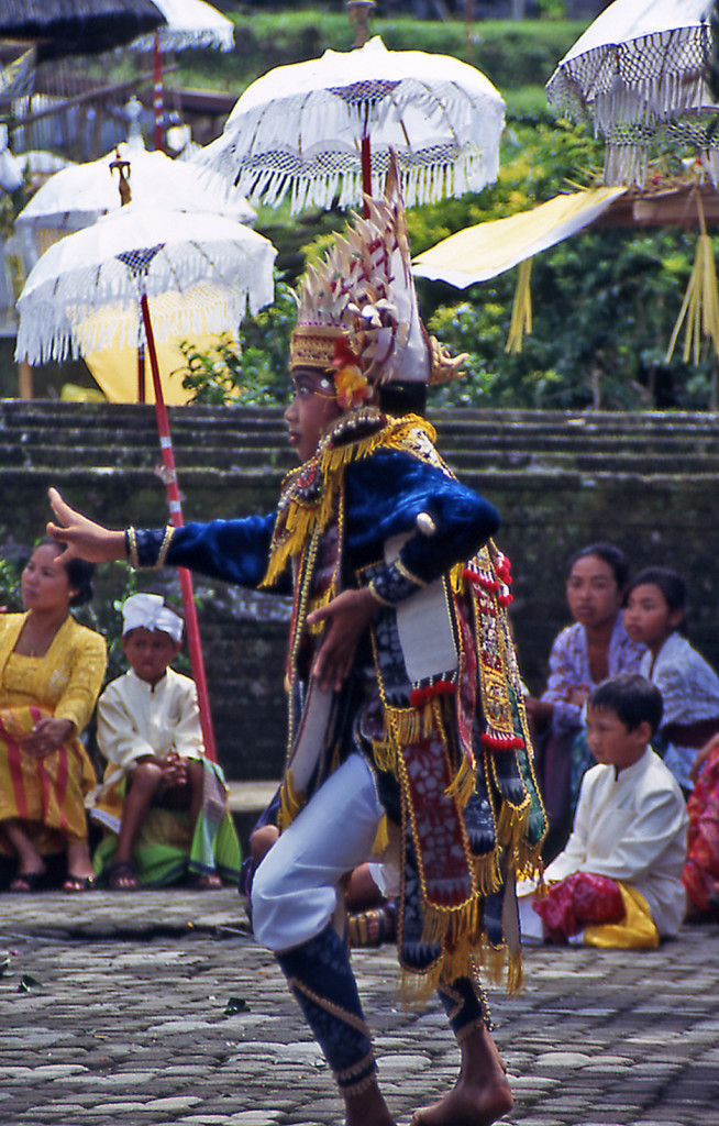 Southeast Asia-Bicycling Bali Indonesia- Besakih Temple Dancer