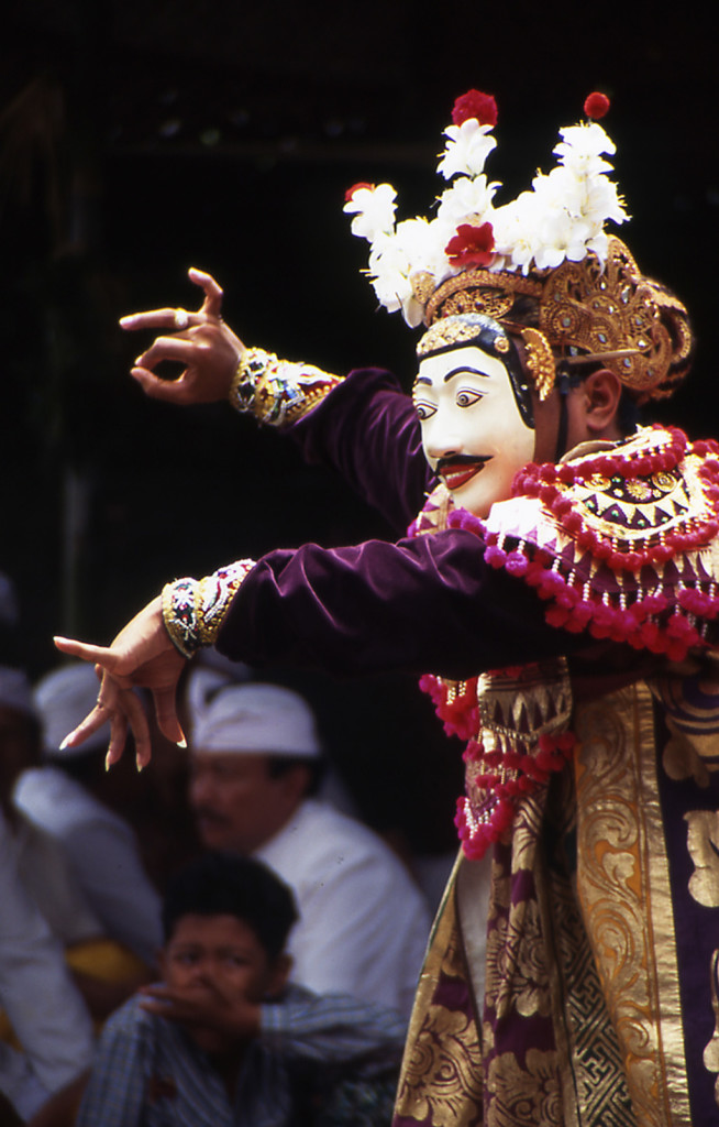 Bicycling Bali-Temple dancer
