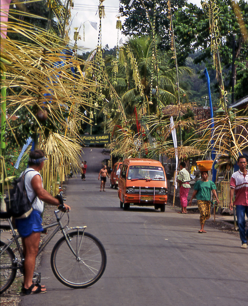 Bicycling Bali Indonesia