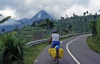 Bicycling Java Indonesia