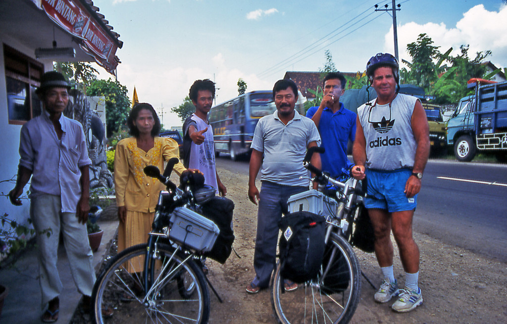 Bicycling Java which is the most populated of the Indonesian Islands as families look for work at all levels