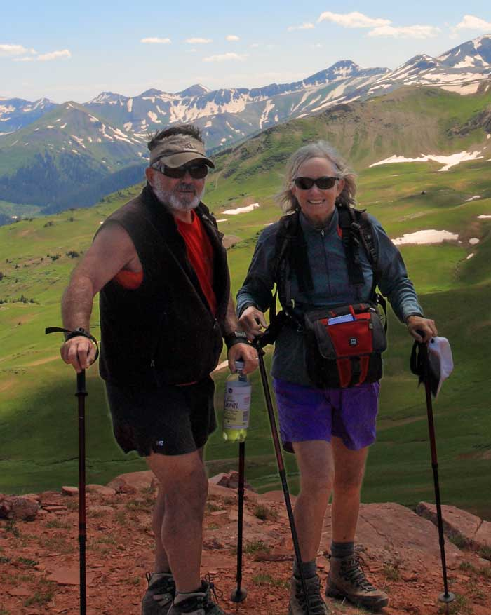 Anne & Mike Poe hiking Fridig Air Pass Crested Butte Colorado