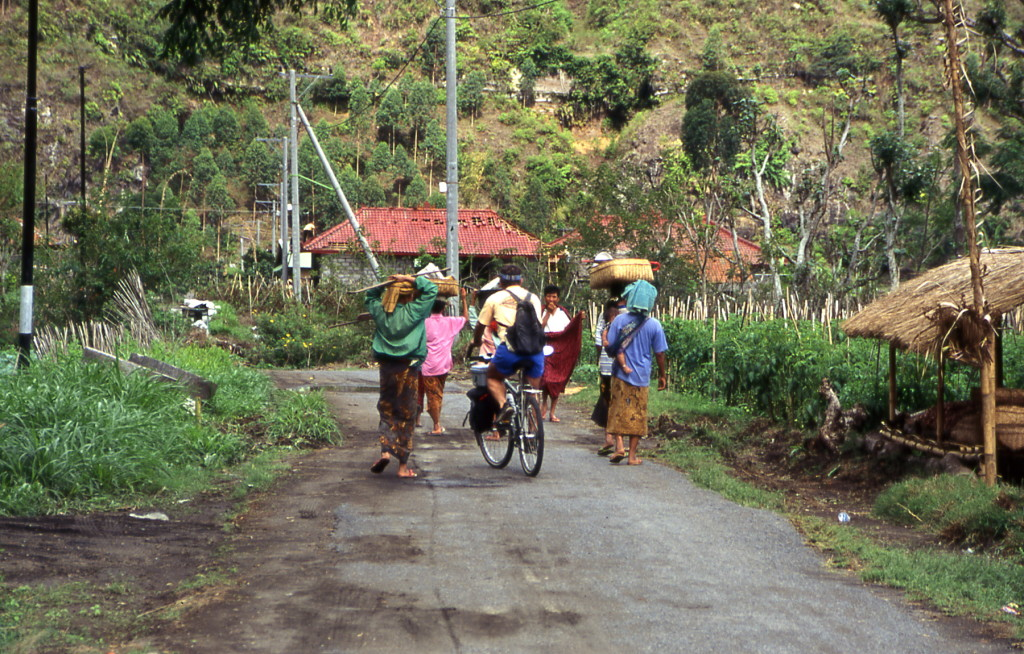 Bicycling Sumatra Rural roads