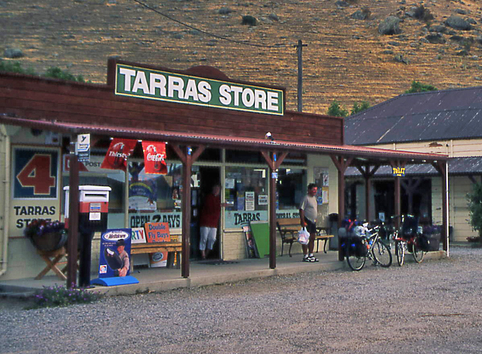 Bicycling South Island New Zealand-Tarras Store
