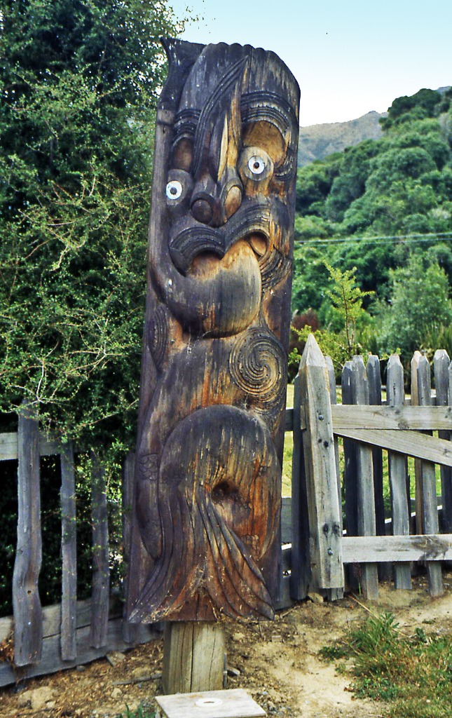 Bicycling North Island New Zealand-Maori carving