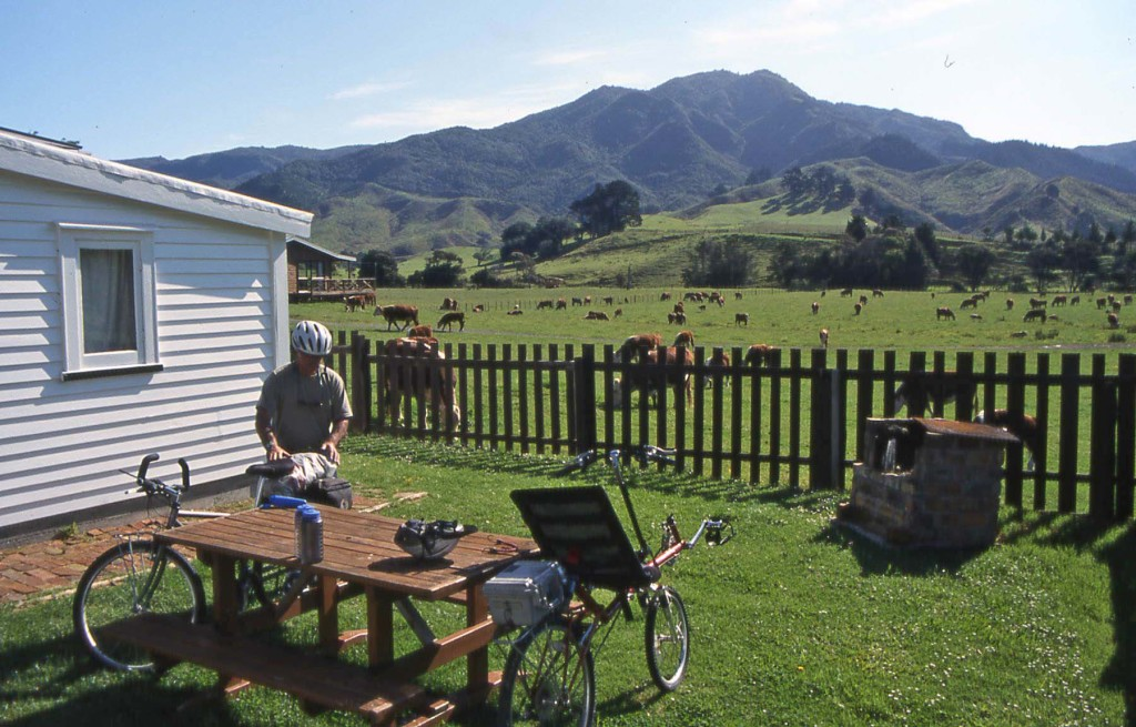 Bicycling North Island New Zealand-White Star Station Farm Stay