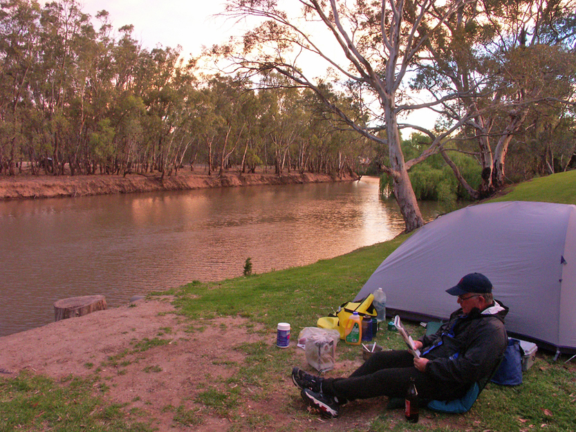 Bicycling Southern Australia-camping