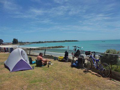 Bicycling Southern Australia-camping areas