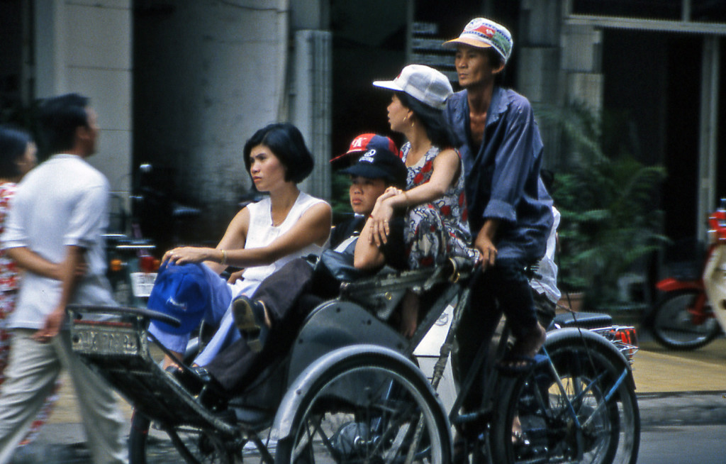 Bicycling Vietnam Bicycle taxi