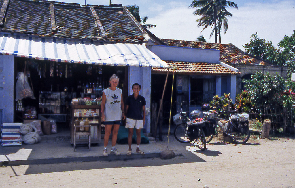 Bicycling Vietnam Former English teacher is now a shop keeper