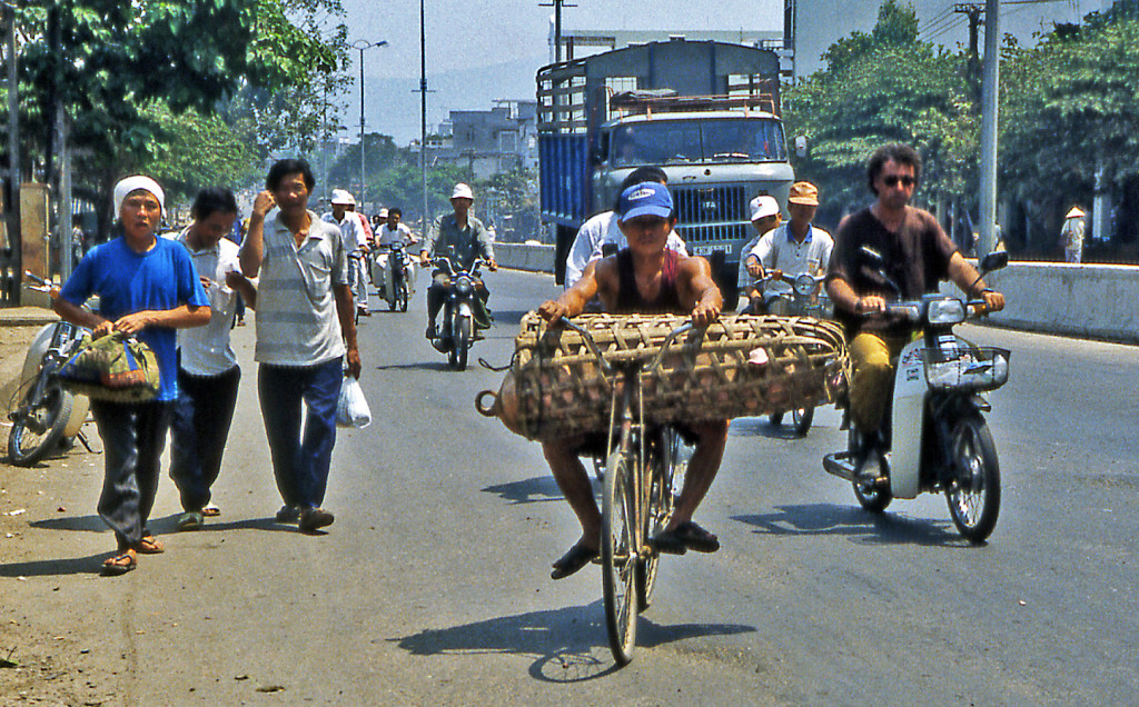 Bicycling Vietnam Bicycles carry everything!
