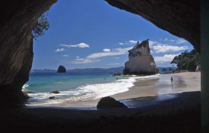 Bicycling North Island New Zealand-Coromandel Peninsula-Cathedral Cove
