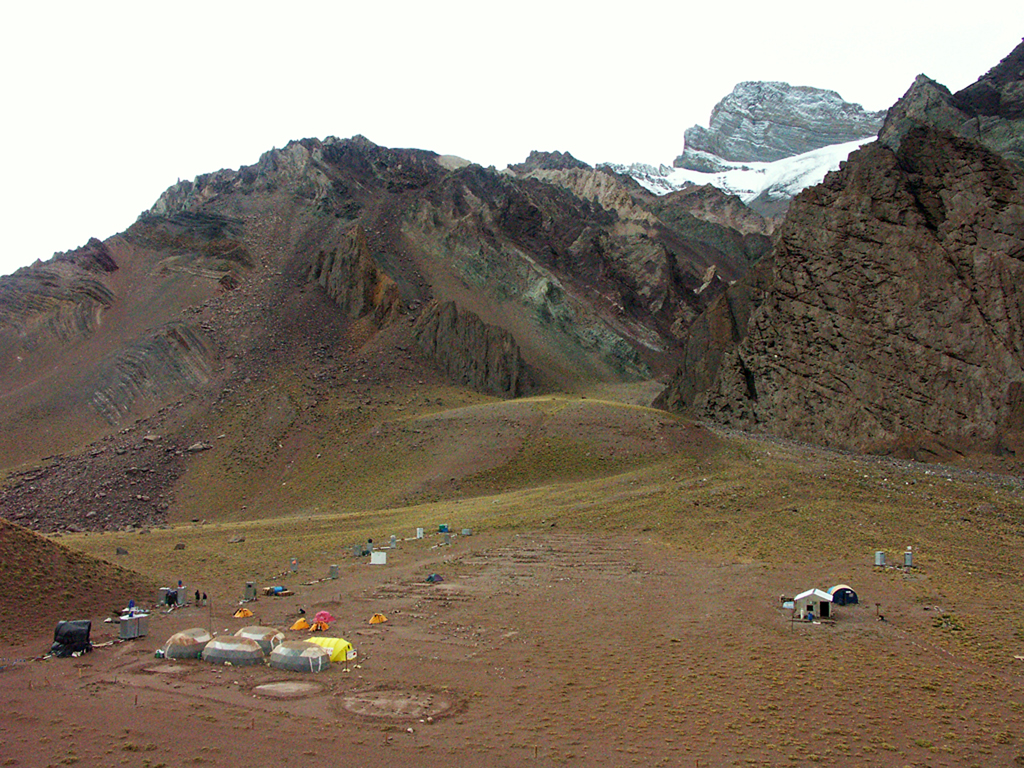 Hiking Aconcagua National Park-Pampa Lenas Camp