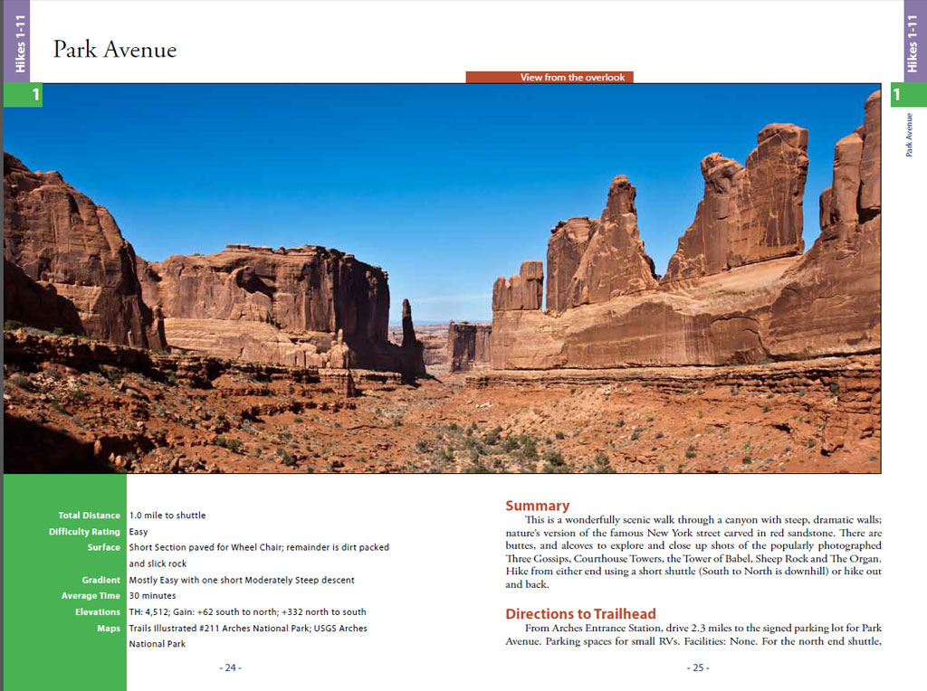 Hiking-Arches & Canyonlands-Park-Avenue-trail