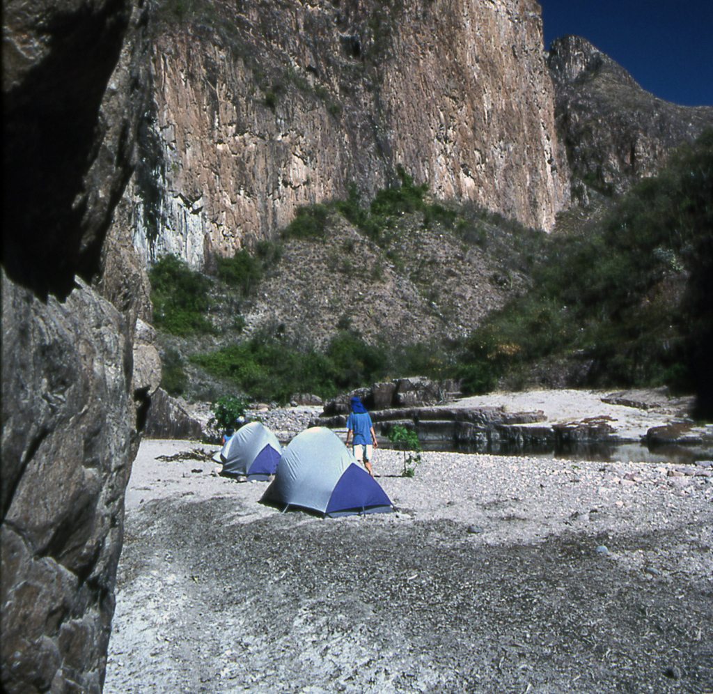 Hiking Copper Canyon-River camp