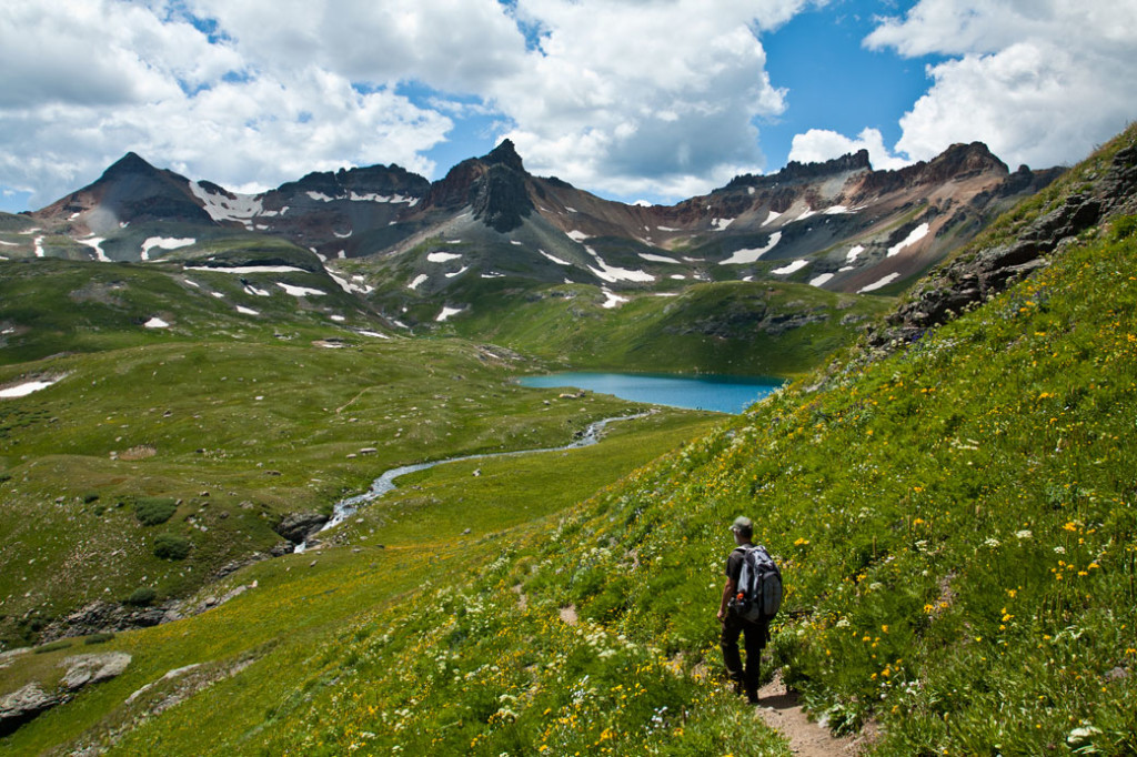 Hiking Ouray-Silverton-Lake City-Ice-Lake-from-Fuller-Lake-Trail
