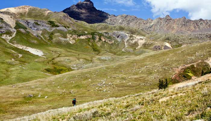 Hiking Ouray, Silverton & Lake City Colorado-Wetterhorn Basin Trail