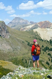 Hiking Adventures-Hiking Lake City-Uncompahgre from above Alice creek