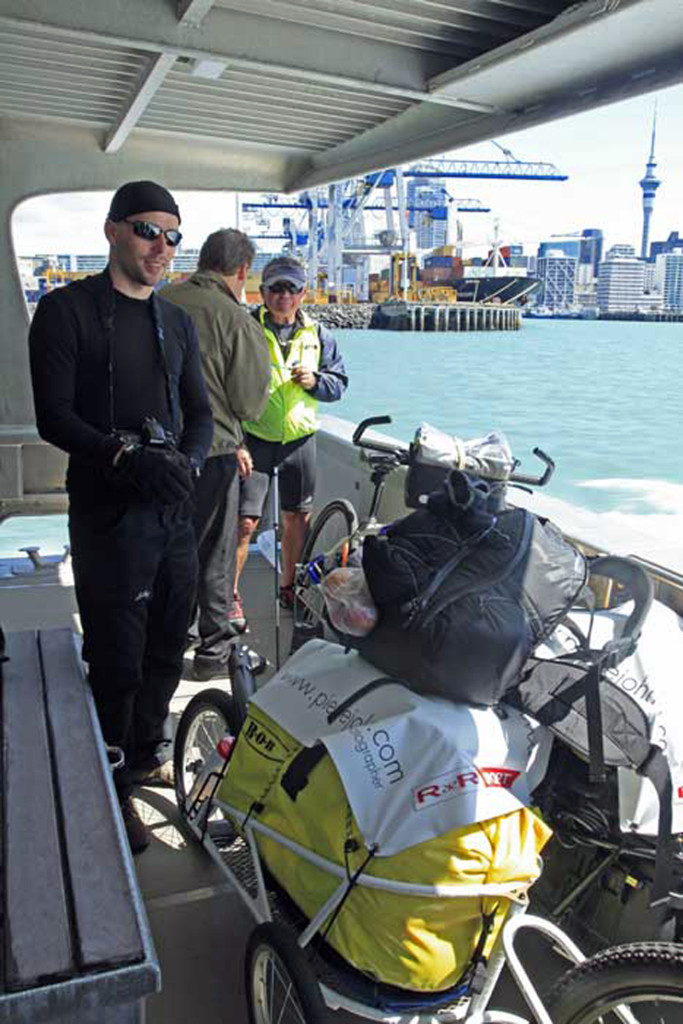 Bicycling North Island New Zealand-Ferry to Pine Harbor