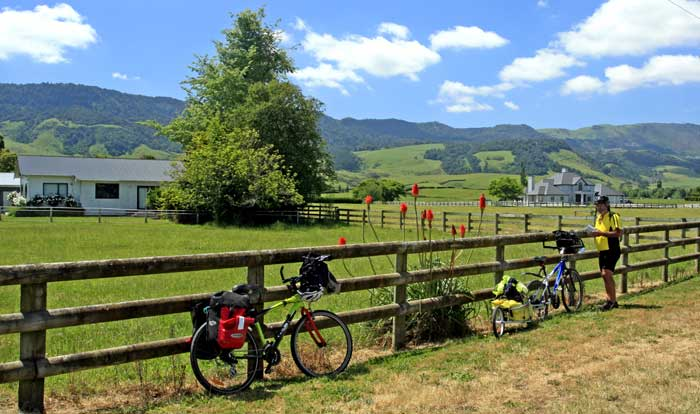 Bicycling North Island New Zealand