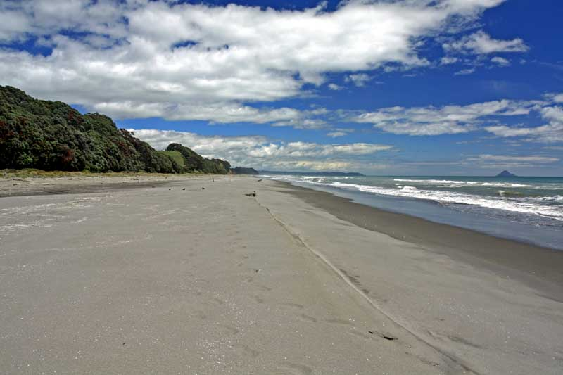 Bicycling North Island New Zealand-Miles of beautiful beaches