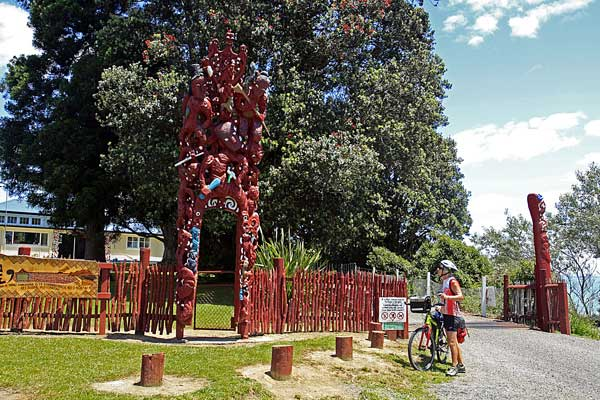 Bicycling North Island New Zealand-East Cape-Maori Carvings