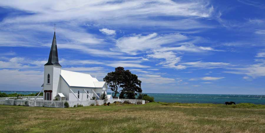 Bicycling North Island New Zealand-East Cape-Raukokori Anglican Church