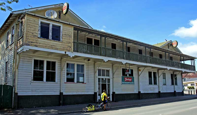 Bicycling North Island New Zealand-Old Ruatoria Hotel