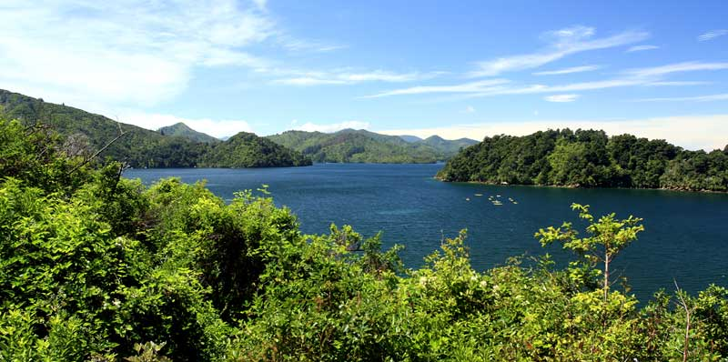 Bicycling South Island New Zealand-Queen Charlotte Sound