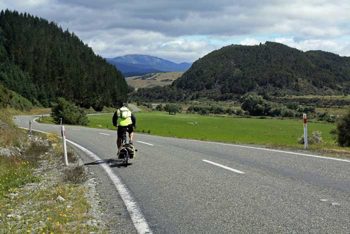 Bicycling South Island New Zealand