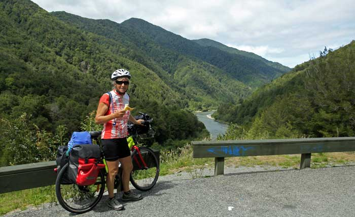 Bicycling South Island New Zealand-Buller River