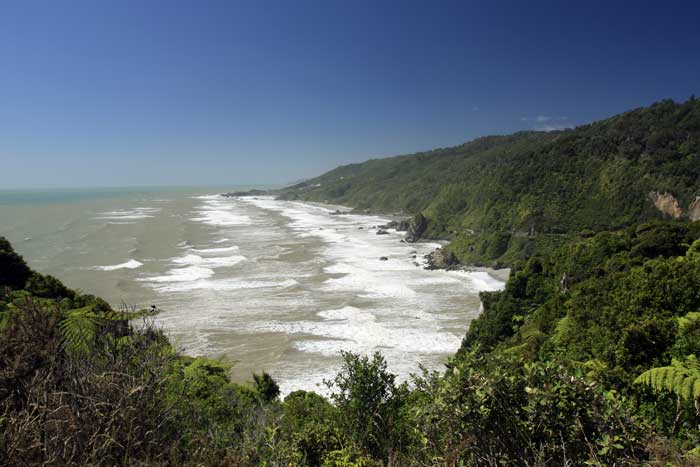 Bicycling South Island New Zealand-Westport to Greymouth