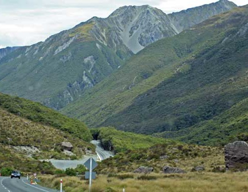 Bicycling South Island New Zealand-Arthur's Pass Route-The Climb