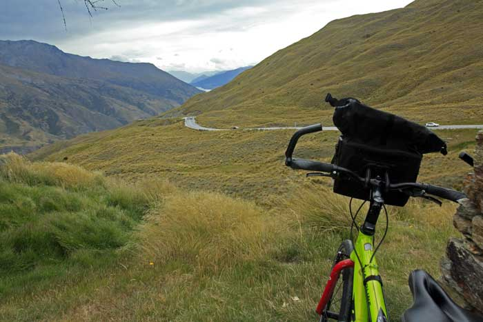 Bicycling South Island New Zealand-Pass on Crown Range Road