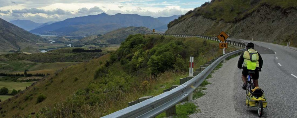 Bicycling South Island New Zealand-Crown Range Road