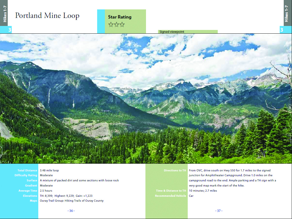 Hiking Ouray-Silverton-Lake City-Portland Mine Loop Trail