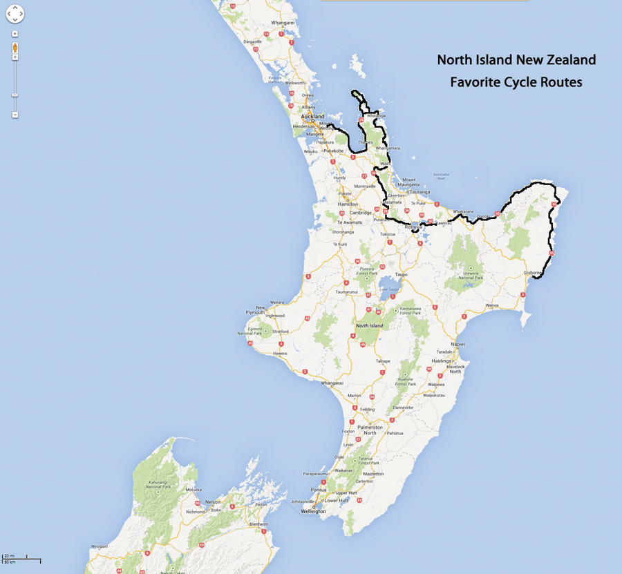 North Island Favorite Bicycle Touring Routes