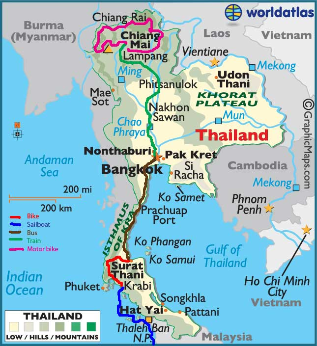 Southeast Asia- -Bicycling Thailand