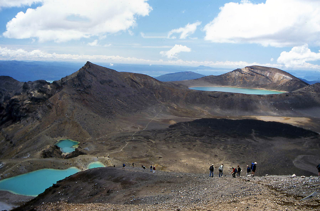 Hiking Tongariro National Park New Zealand