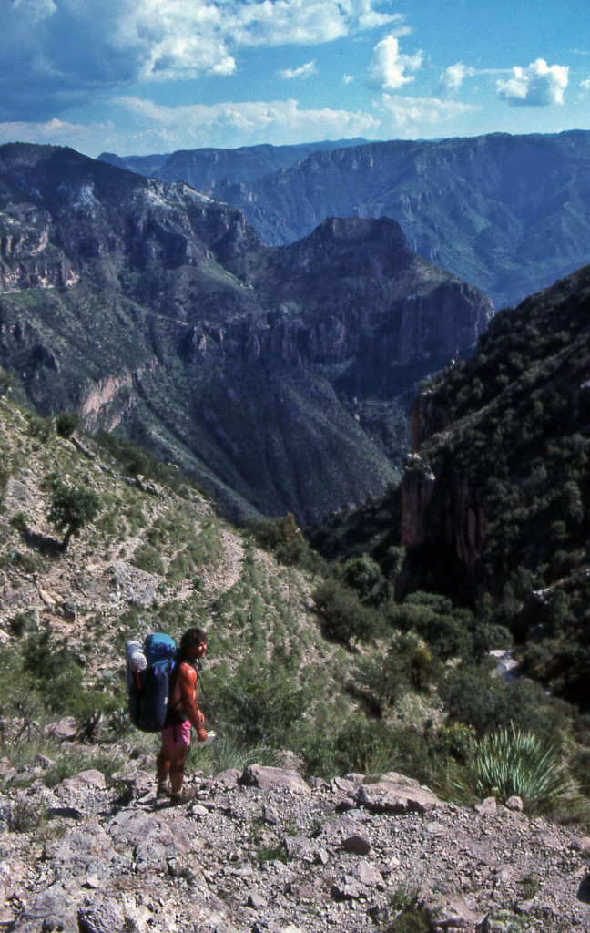 Hiking Copper Canyon-A place to reconnoiter-we are nearing the top