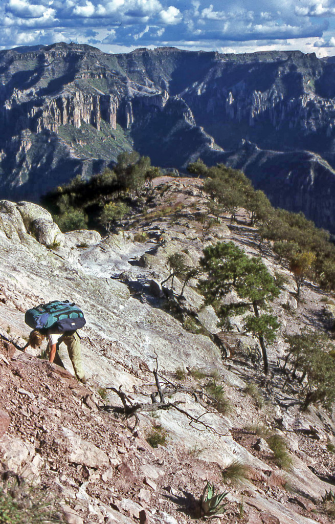 Hiking Biking Adventures-Hiking Copper Canyon-Mexico 1986