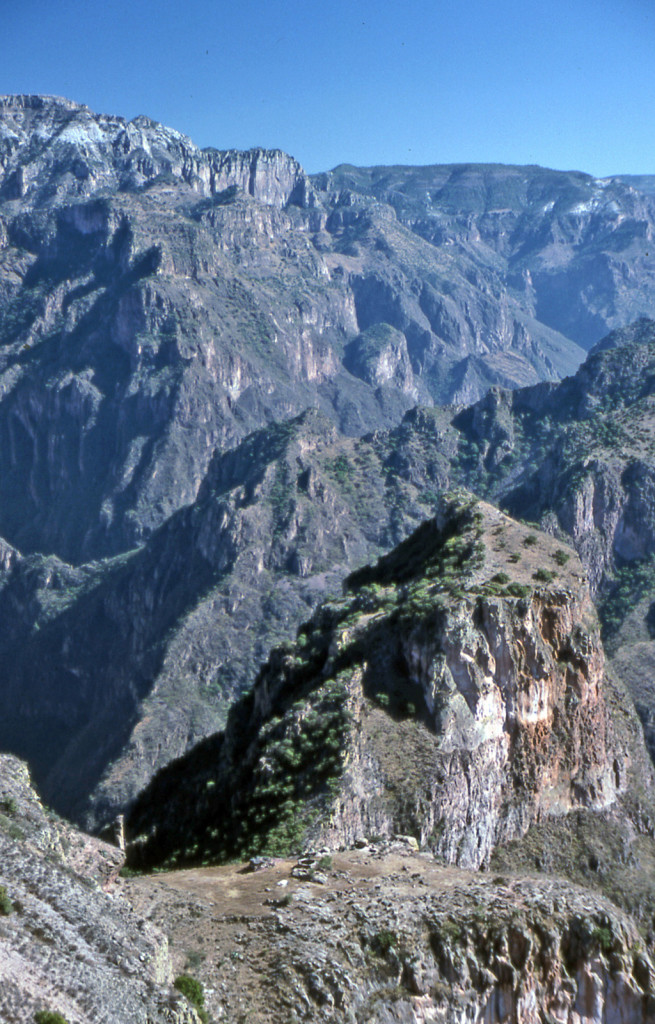 Hiking Copper Canyon-Mexico-We find a trail. It leads to a Tarahumara plot of corn