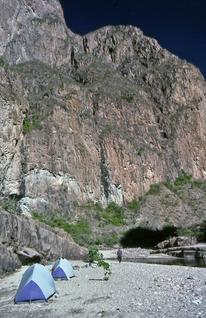 Hiking Copper Canyon-Mexico-River camp