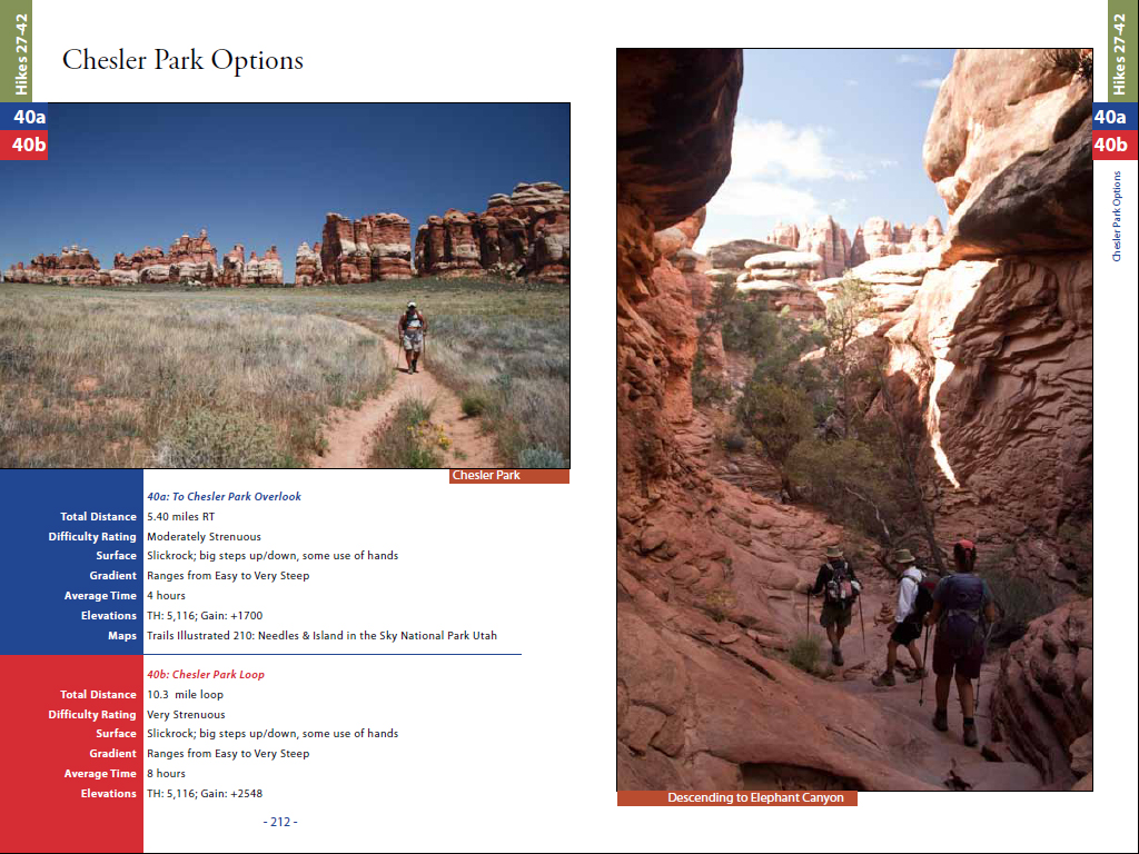 Hiking Arches-Canyonlands National Parks-Hiking Utah-Needles District-Chesler Park Options