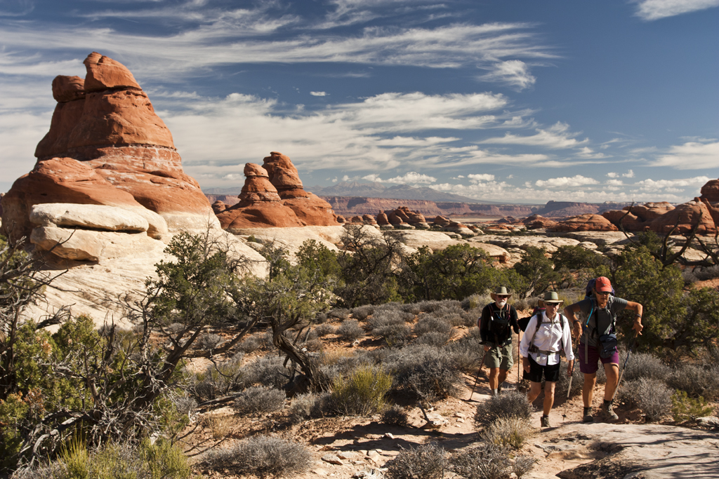 Hiking Needles District-Chesler Park Trail